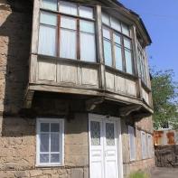 Old house balcony